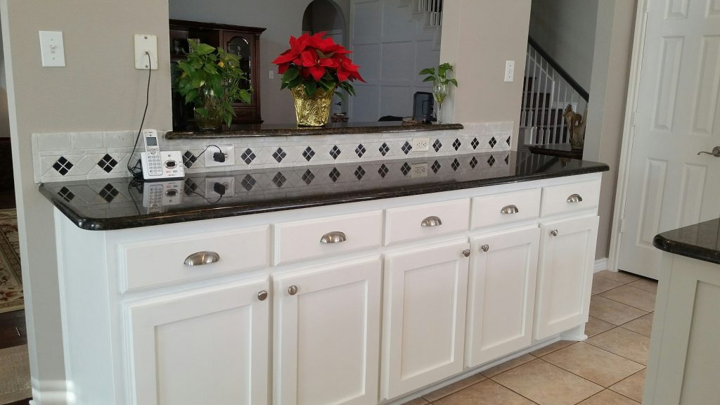 After renovation shaker-style cabinet doors.